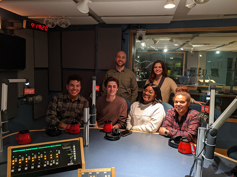 At New Hampshire Public Radio, the V.C.U. students were interviewed for the podcast